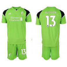 2018-19 Liverpool #13 ALISSON Green Goalkeeper Soccer Jersey