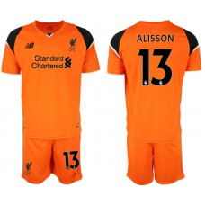 2018-19 Liverpool #13 ALISSON Orange Goalkeeper Soccer Jersey