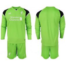 2018-19 Liverpool Green Long Sleeve Goalkeeper Soccer Jersey