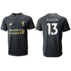 2019-20 Liverpool #13 ALISSON Black Goalkeeper Soccer Jersey