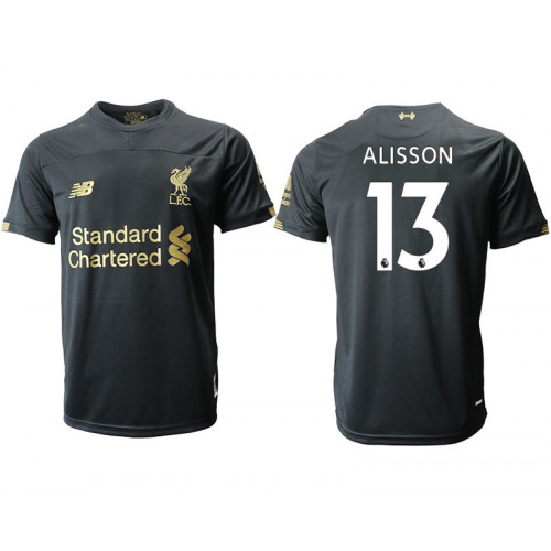 2019-20 Liverpool #13 ALISSON Black Goalkeeper Soccer Jersey