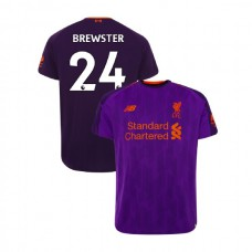Liverpool 2018-19 Away #24 Rhian Brewster Purple Authentic Jersey