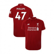Liverpool 2018-19 Home #47 Nathaniel Phillips Red Authentic Jersey