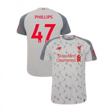 Liverpool 2018-19 Third #47 Nathaniel Phillips Light Gray Authentic Jersey