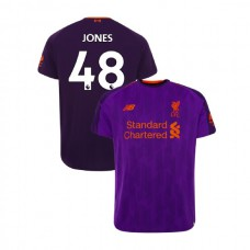 Liverpool 2018-19 Away #48 Curtis Jones Purple Authentic Jersey