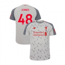 Liverpool 2018-19 Third #48 Curtis Jones Light Gray Authentic Jersey