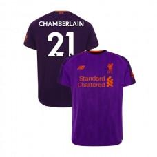 Liverpool 2018-19 Away #21 Alex Oxlade-Chamberlain Purple Authentic Jersey