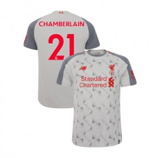 Liverpool 2018-19 Third #21 Alex Oxlade-Chamberlain Light Gray Authentic Jersey