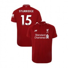 Liverpool 2018-19 Home #15 Daniel Sturridge Red Authentic Jersey