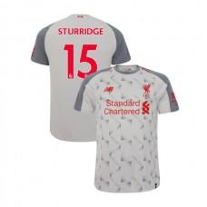 Liverpool 2018-19 Third #15 Daniel Sturridge Light Gray Authentic Jersey