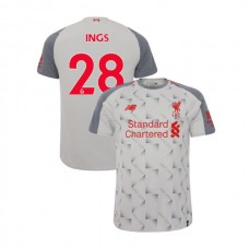 Liverpool 2018-19 Third #28 Danny Ings Light Gray Authentic Jersey