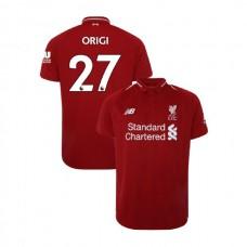 Liverpool 2018-19 Home #27 Divock Origi Red Authentic Jersey