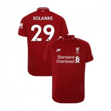 Liverpool 2018-19 Home #29 Dominic Solanke Red Authentic Jersey