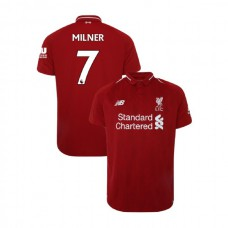 Liverpool 2018-19 Home #7 James Milner Red Authentic Jersey
