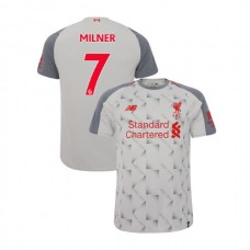 Liverpool 2018-19 Third #7 James Milner Light Gray Authentic Jersey