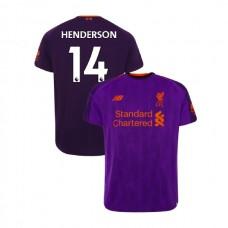 Liverpool 2018-19 Away #14 Jordan Henderson Purple Authentic Jersey