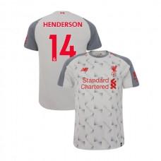 Liverpool 2018-19 Third #14 Jordan Henderson Light Gray Authentic Jersey