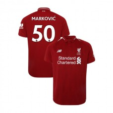 Liverpool 2018-19 Home #50 Lazar Markovic Red Authentic Jersey