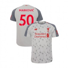 Liverpool 2018-19 Third #50 Lazar Markovic Light Gray Authentic Jersey