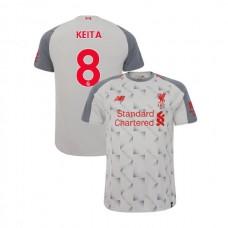 Liverpool 2018-19 Third #8 Naby Keita Light Gray Authentic Jersey