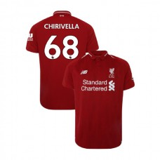 Liverpool 2018-19 Home #68 Pedro Chirivella Red Authentic Jersey