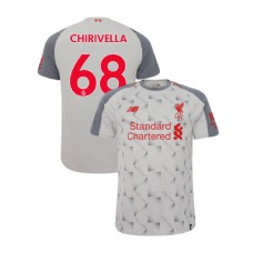 Liverpool 2018-19 Third #68 Pedro Chirivella Light Gray Authentic Jersey