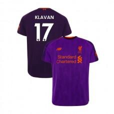Liverpool 2018-19 Away #17 Ragnar Klavan Purple Authentic Jersey