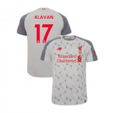 Liverpool 2018-19 Third #17 Ragnar Klavan Light Gray Authentic Jersey