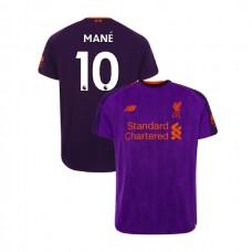 Liverpool 2018-19 Away #10 Sadio Mane Purple Authentic Jersey