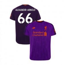 Liverpool 2018-19 Away #66 Trent Alexander-Arnold Purple Authentic Jersey