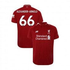 Liverpool 2018-19 Home #66 Trent Alexander-Arnold Red Authentic Jersey