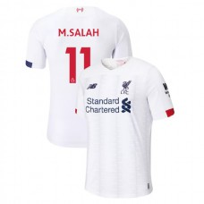 Liverpool 2019-20 #11 Mohamed Salah White Away Authentic Jersey