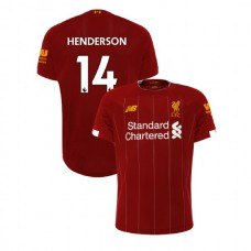 Liverpool 2019-20 #14 Jordan Henderson Red Home Authentic Jersey