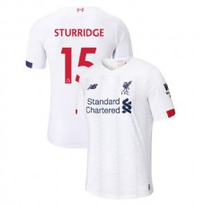 Liverpool 2019-20 #15 Daniel Sturridge White Away Authentic Jersey