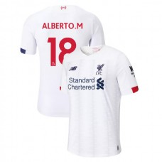 Liverpool 2019-20 #18 Alberto Moreno White Away Replica Jersey