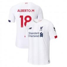 Liverpool 2019-20 #18 Alberto Moreno White Away Authentic Jersey