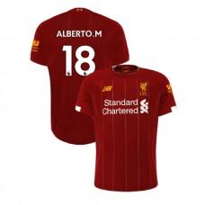 Liverpool 2019-20 #18 Alberto Moreno Red Home Authentic Jersey