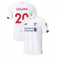 Liverpool 2019-20 #20 Adam Lallana White Away Authentic Jersey