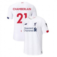 Liverpool 2019-20 #21 Alex Oxlade-Chamberlain White Away Authentic Jersey
