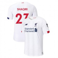 Liverpool 2019-20 #23 Xherdan Shaqiri White Away Authentic Jersey