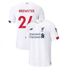 Liverpool 2019-20 #24 Rhian Brewster White Away Authentic Jersey