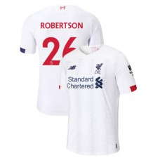 Liverpool 2019-20 #26 Andrew Robertson White Away Authentic Jersey