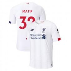 Liverpool 2019-20 #32 Joel Matip White Away Authentic Jersey
