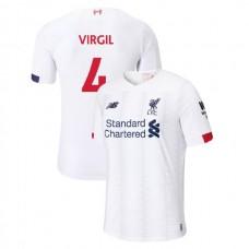 Liverpool 2019-20 #4 Virgil van Dijk White Away Authentic Jersey