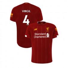 Liverpool 2019-20 #4 Virgil van Dijk Red Home Authentic Jersey