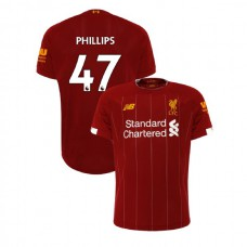 Liverpool 2019-20 #47 Nathaniel Phillips Red Home Authentic Jersey
