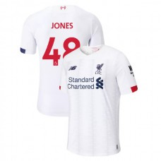 Liverpool 2019-20 #48 Curtis Jones White Away Authentic Jersey