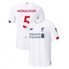 Liverpool 2019-20 #5 Georginio Wijnaldum White Away Authentic Jersey