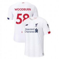 Liverpool 2019-20 #58 Ben Woodburn White Away Authentic Jersey