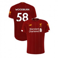 Liverpool 2019-20 #58 Ben Woodburn Red Home Authentic Jersey